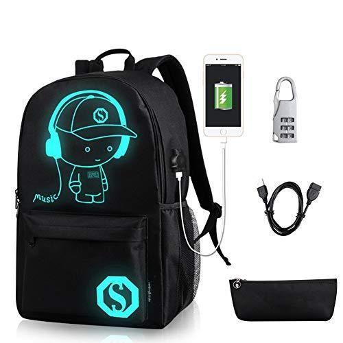 Travel Backpack USB Charging Port Rucksack Shoulder Laptop College School Bag