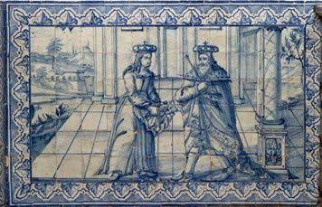 """A 9 de Out 1261 nasce o futuro rei D. Dinis (1261-1325), sexto rei de Portugal, cognominado """"O Lavrador"""", em virtude do impulso que deu à agricultura e ampliação do pinhal de Leiria ou """"O Rei Poeta"""" devido à sua  obra literária. Filho de D. Afonso III de Portugal (1210- 1279) e da infanta Beatriz de Castela (c. 1242-1303), foi aclamado em Lisboa em 1279, tendo subido ao trono com 17 anos. Em 1282 desposou Isabel de Aragão (1271-1336), que ficaria conhecida como Rainha Santa. O MILAGRE DAS…"""