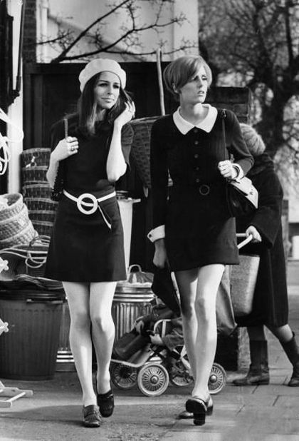 1960's aline dresses wore these starting at the middle of the knee in high school rising to the micro mini by the time I was 21.