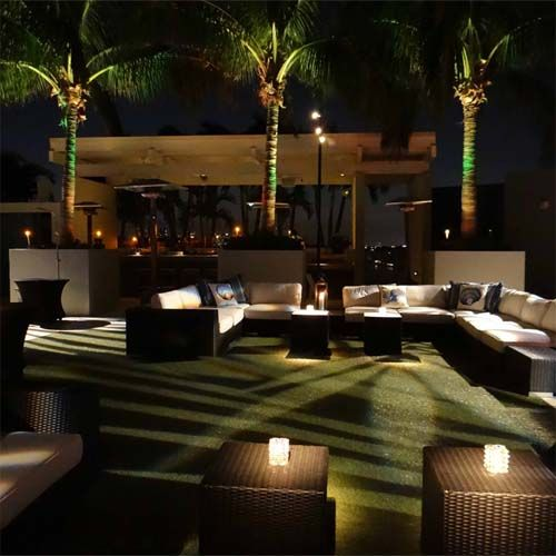 Great lighting and plenty of seating made this event on the rooftop of the W Hotel in Fort Lauderdale a huge success!