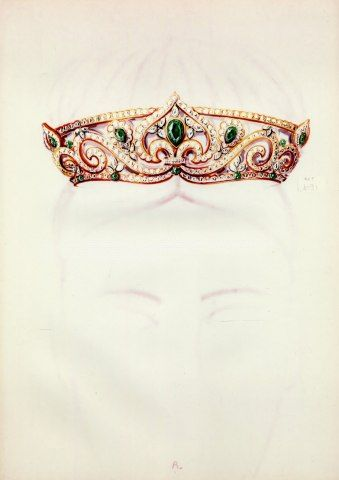 Tiara Jewel (Cartier) Archive Document Crown
