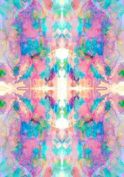 Mirror Art Print by amy sia print pattern design
