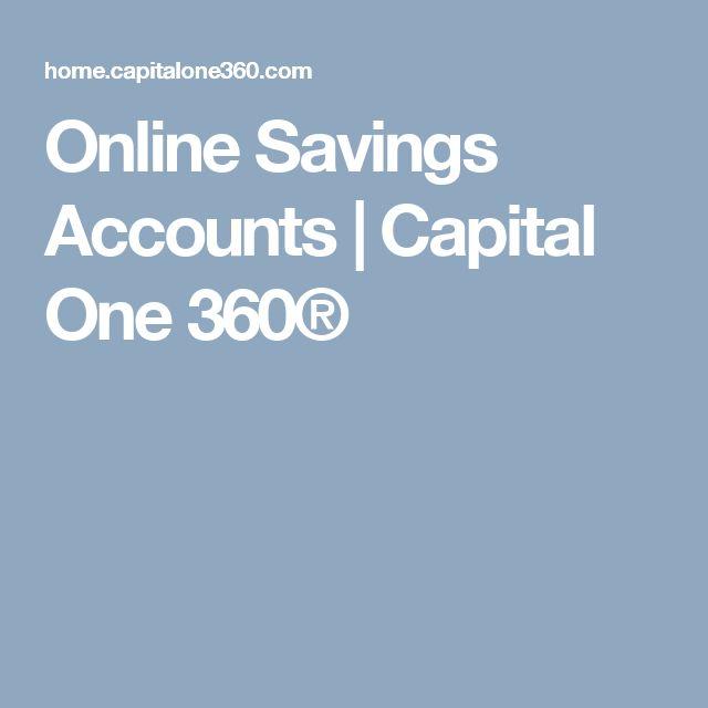 Online Savings Accounts | Capital One 360®