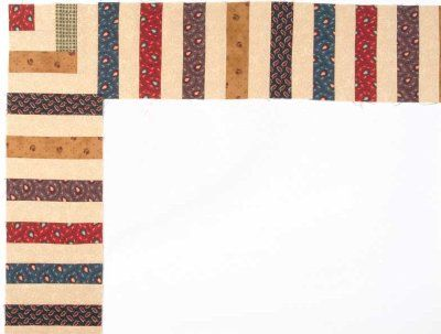 """TLC Home """"Piano Keys Quilt Border Pattern"""" - love the look of this border."""