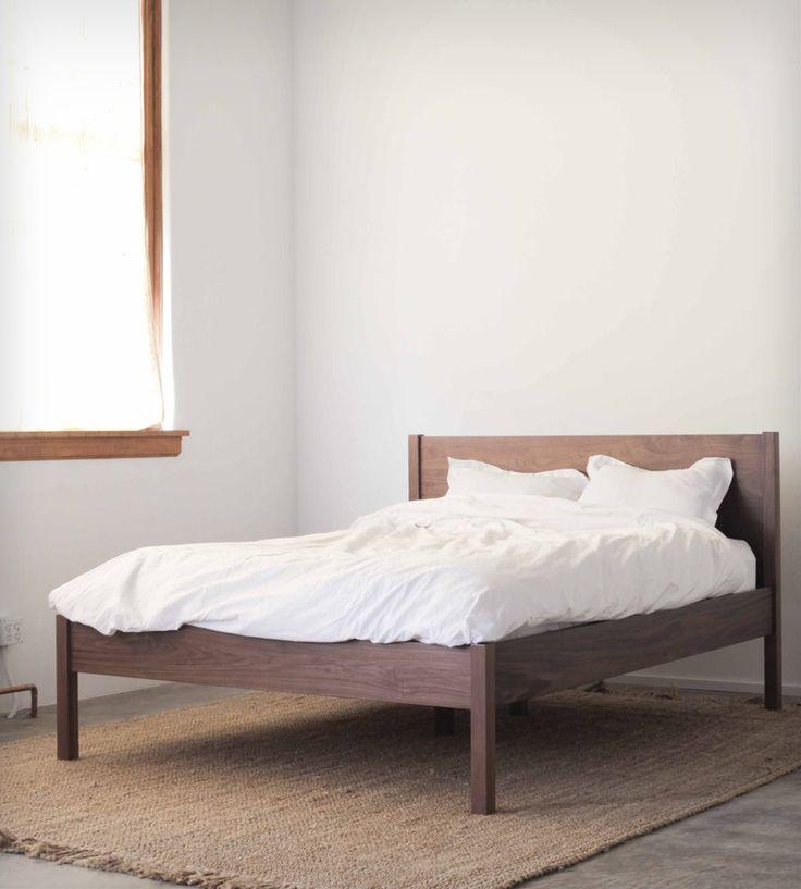 walnut queen bed frame headboard - Headboard Bed Frame