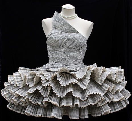 Phone book dress ooooo lala stylish things to love for Things to make out of a loved one s clothing