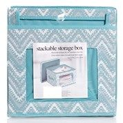 Chevron Print Stackable Storage Box with Lid