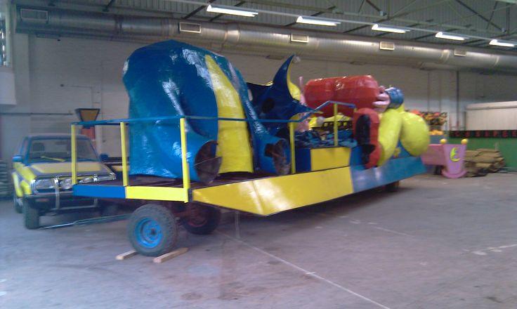 De Prinsenwagen staat voor het eerst binnen