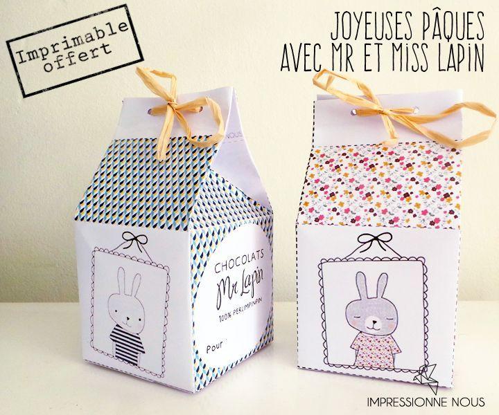 Boîtes imprimables Pâques