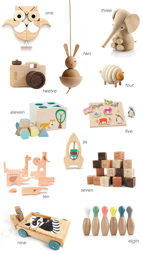 Wooden toys gift guide - I love wooden toys!