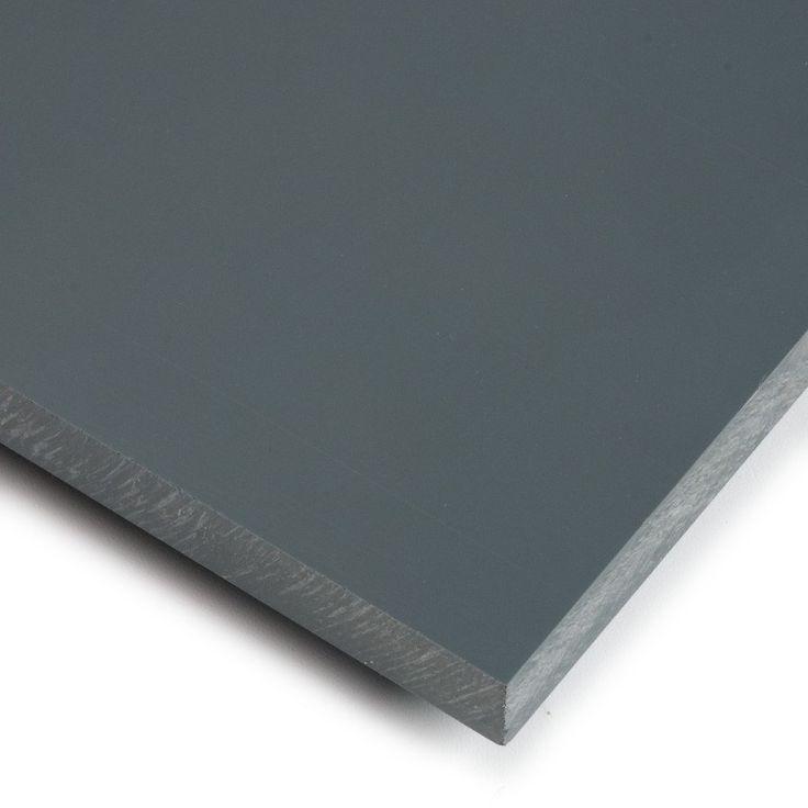 PVC GRIS - Planchas de PVC gris de aspecto muy industrial y en varios grosores. Son rígidas, densas y resistentes. Aptas para recubrir suelos, muebles y superficies como también para cualquier tipo de manualidades.