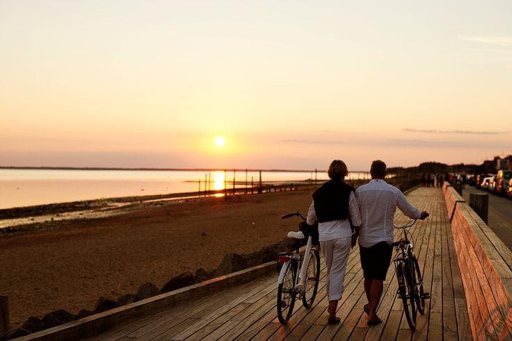 Sunset walk along the coast in West Jultand