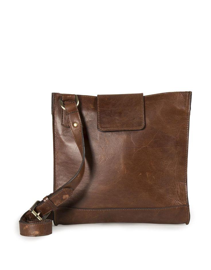 Leather Flap Crossbody Bag