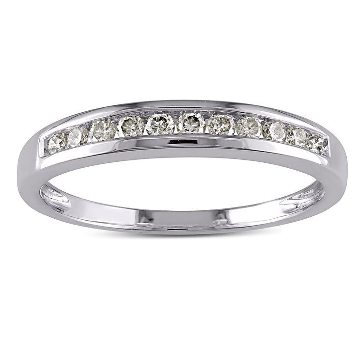 Cool Miadora k White Gold ct TDW Diamond Stackable Channel set Anniversary style Wedding Band J K I I Size NA Women us Size