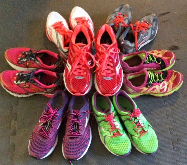 http://trackcatfitness.com/2015/01/start-a-run-shoe-rotation-justify-the-collection/  I've started (ok continue to be) obsessing about shoes and want to talk about what I've learned as I've built my personal stable of run shoes. I now mostly run long and steady in a new pair of beautiful bright red pair of Saucony Ride 7s in Berry and I'm really happy with them. They […]