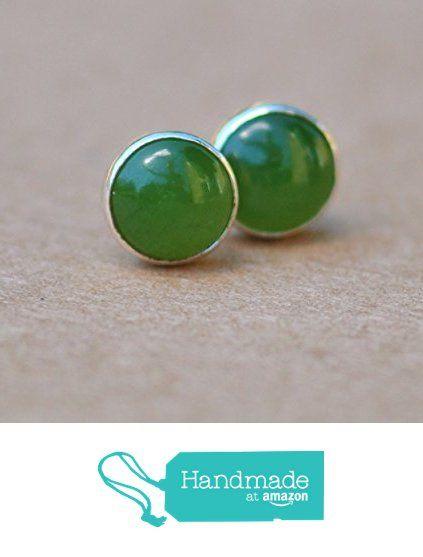 Nephrite Jade Earrings With Sterling Silver Studs 6mm From J 4 Jewellery Https