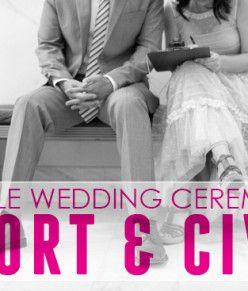 Sample Wedding Ceremony: Short & Civil | A Practical Wedding
