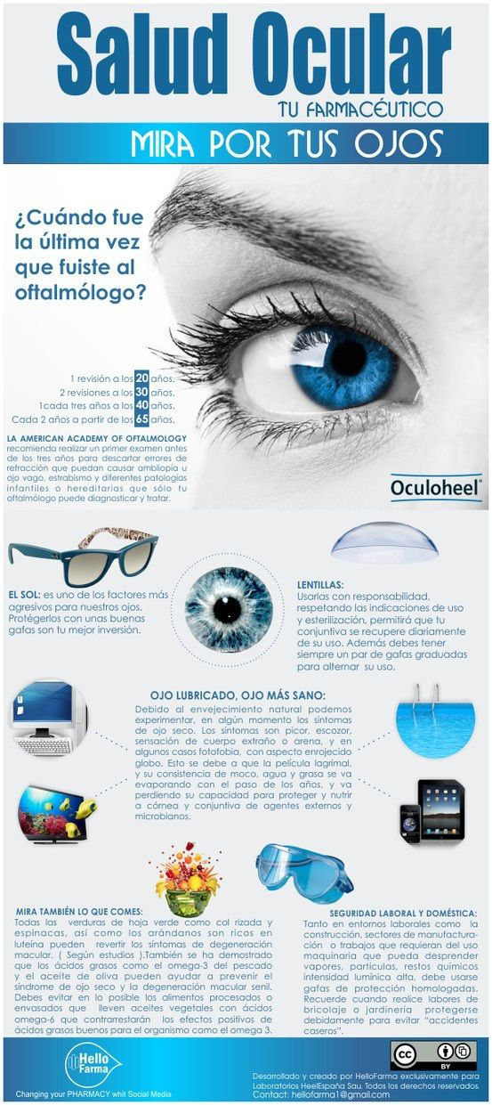 Salud Ocular Salud Ocular #infografia #infograpahic #health http://wp.me/p1BmjH-1dF vía @alfredovela