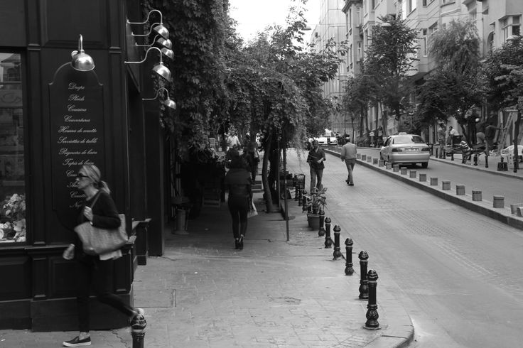 Cihangir hipster neighborhood  black and white, Canon, Istanbul, Turkey, Travel