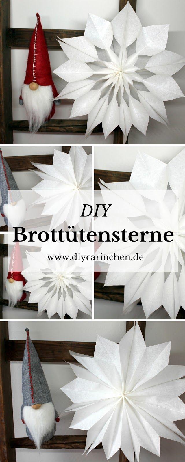 Last Minute DIY: Geschenkidee zu Weihnachten, Weihnachtssterne aus Brottüten in weniger als 5 Minuten! ☆