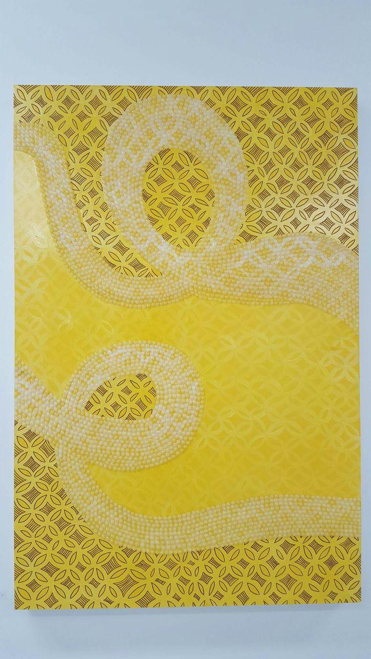 Samasama (Yellow), 2015. Mixed Media. 120 x 79.5cm