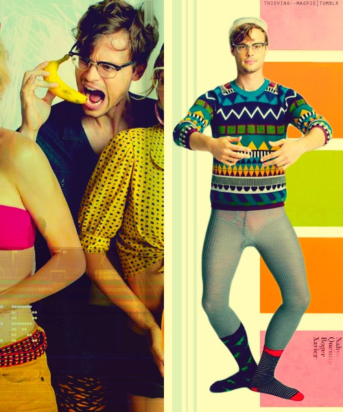 Matthew Gray Gubler. Dear sir, what the fuck? See through pants that aren't quite see through enough?