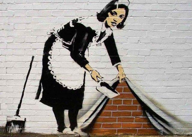 Graffiti - Banksy egy műve