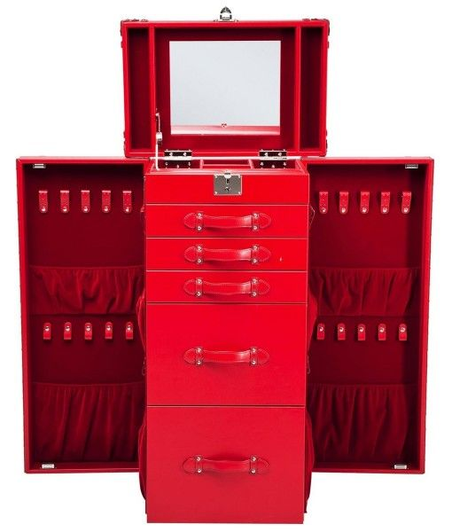 Wardrobe Trunk Multipurpose Red