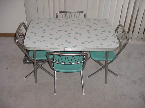 Vintage Childrens Formica Kitchen Table Set W 4 Star Brite