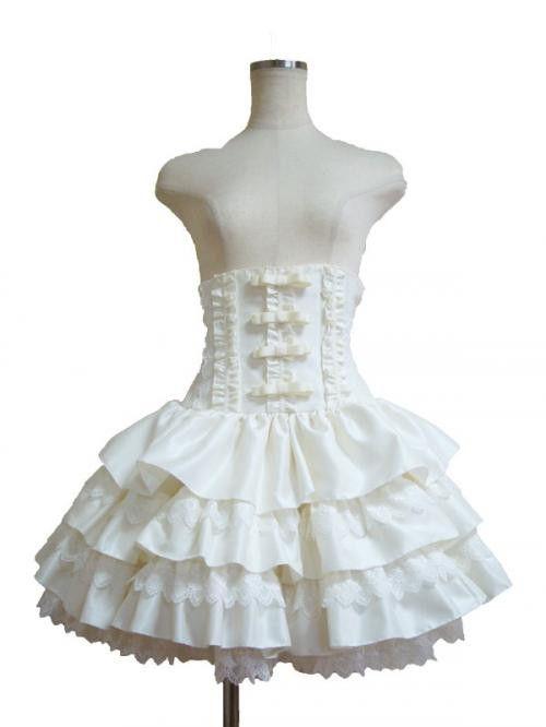 Atelier Pierrot Mini Corset Skirt White