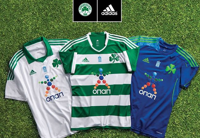 Panathinaikos 2013/14 adidas Home, Away & Third Kits