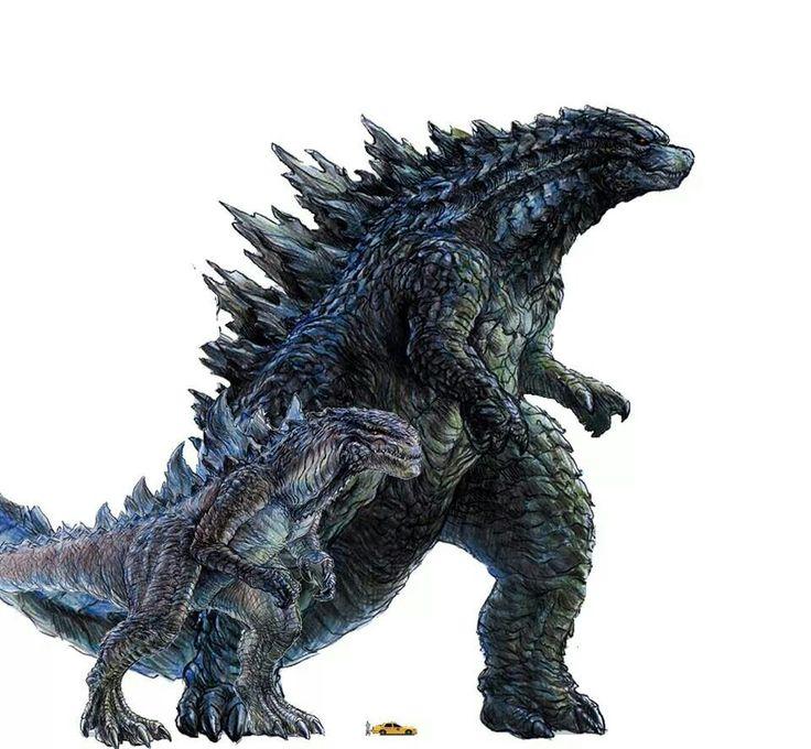 Godzilla 2014 & Zilla 09 ~ It's okay little fella, that lousy movie wasn't your fault. You deserved better than Matthew Broderick.
