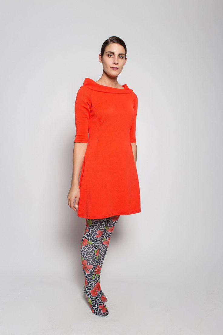 #lafemmemimi #fashion #prague #autumn #winter #2015 #lookbook #orange #red #dress