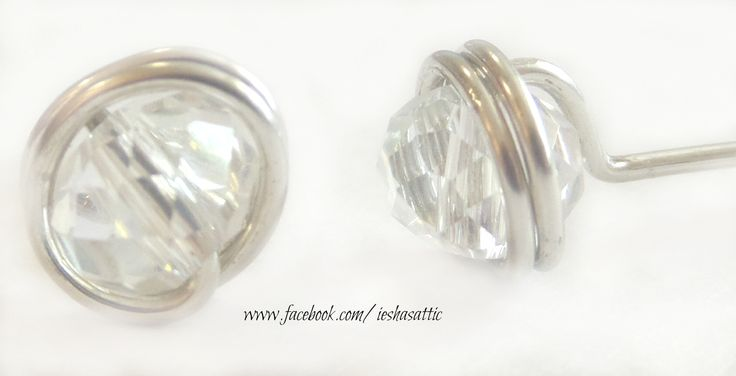 wire wrapped Swarovski earrings