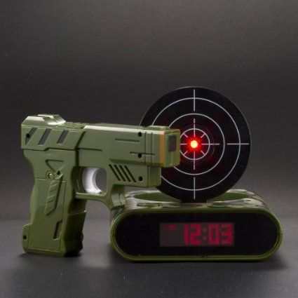 Amazon.com: Lock N' load target alarm clock/Gun alarm colck: Toys & Games
