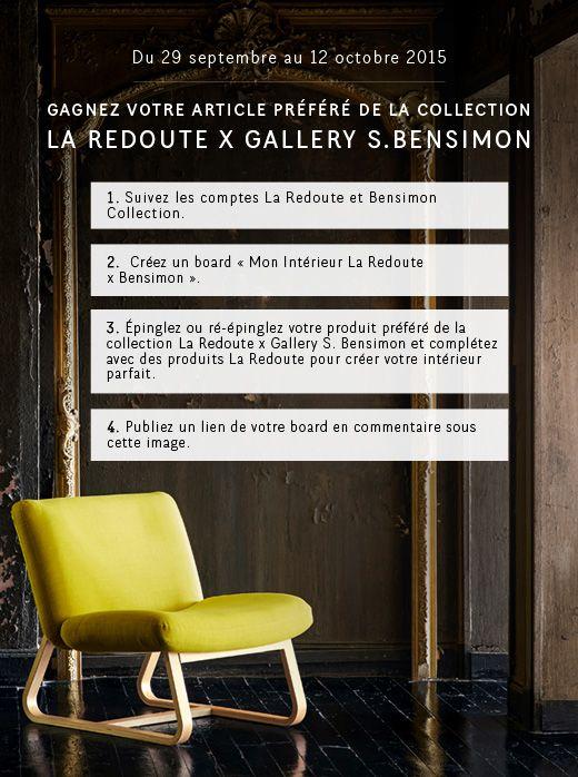 Gagnez votre article pr f r de la collection la redoute x for La redoute bensimon meubles