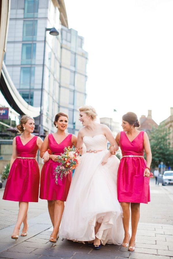 Bright and Modern Pink Wedding | Cat Hepple Photography on @blovedblog via @aislesociety