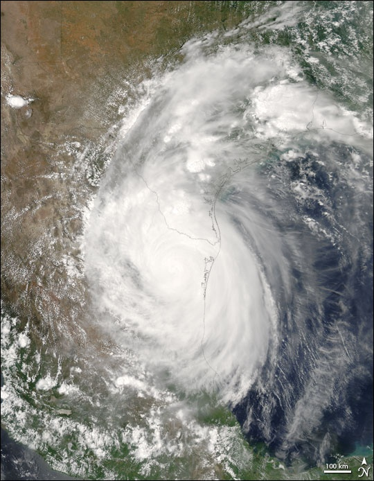 Hurricane Emily had come ashore in Mexico on July 20, 2005.  As it moved through the Caribbean, Emily intensified into a powerful Category 4 storm with winds over 250 km/hr (150 mph) and gusts as high as 300 km/hr (184 mph), making it the most powerful storm to form before August.