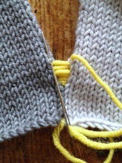 Costura de tricô perfeita.