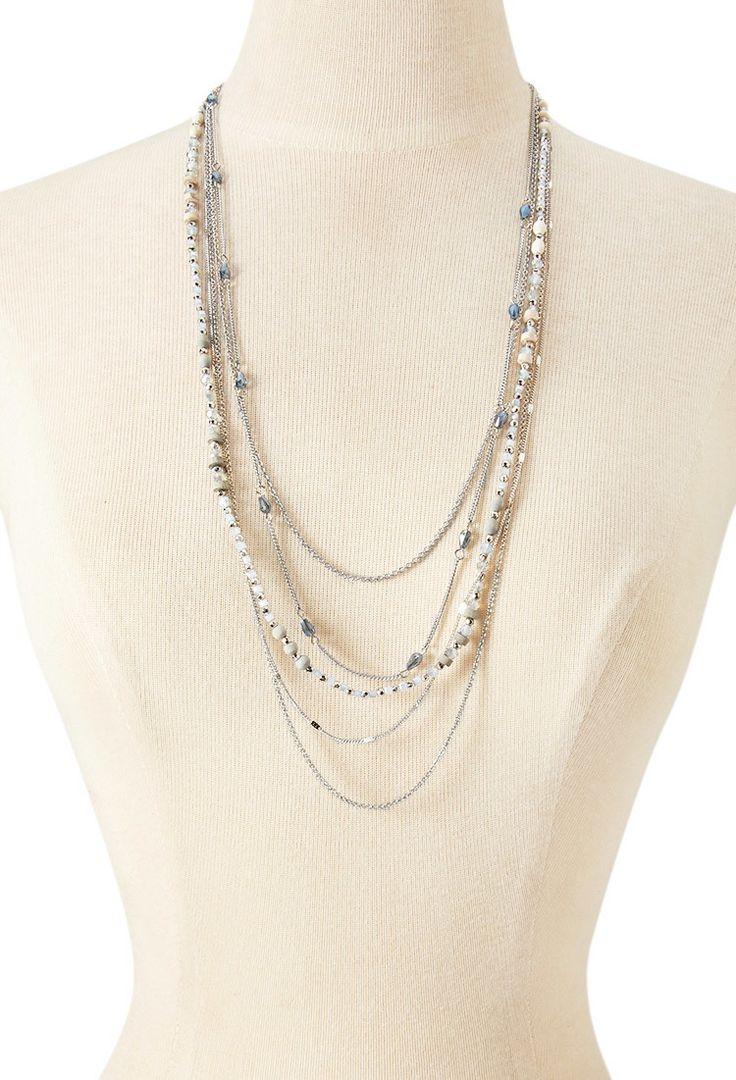 Collier Multi-Rangs à Perles - accessoires, bijoux et sacs pour Femmes| voir en ligne | Forever 21 - Bijoux - Colliers - 1000157195 - Forever 21 EU