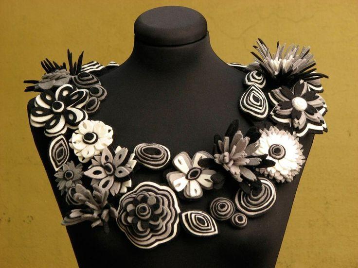 Necklace | Danielle Gori-Montanelli.  Felt
