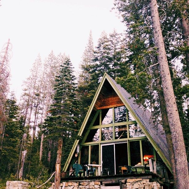 The most awesome A-Frame cabin in California