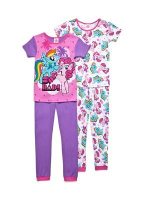 My Little Pony  Multi My Little Pony Cotton Pajamas Girls 4-10
