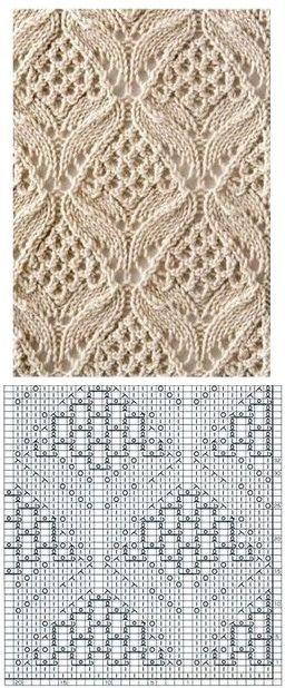 Узор для вязание спицами. Схема узора для вязания.