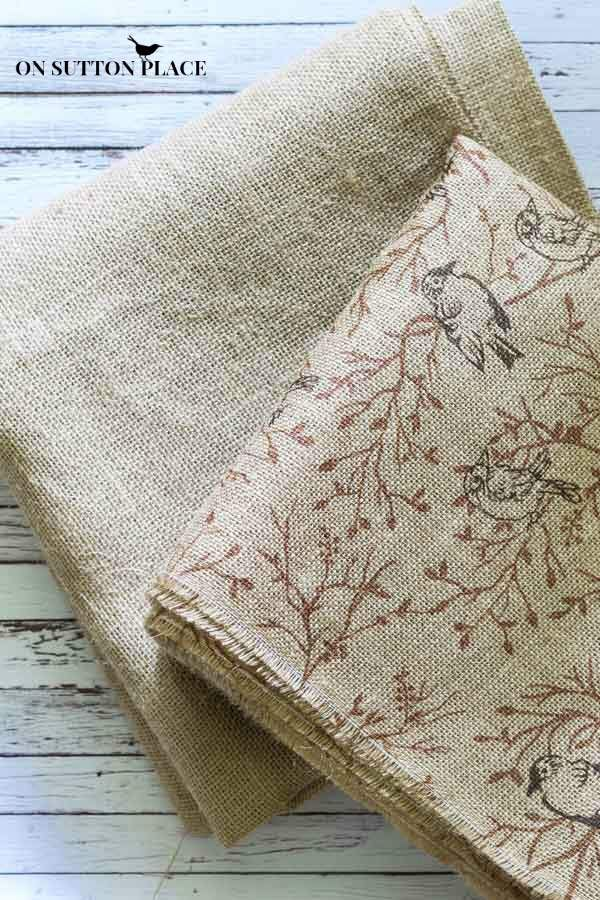 How to Wash, Dry and Cut Burlap | Complete directions to properly prepare burlap fabric so it's easy to work with plus tips for a straight cut.