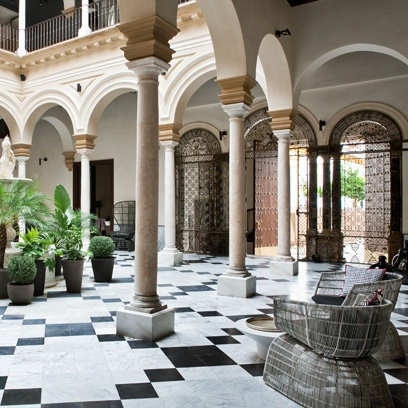 21 best images about patios sevillanos on pinterest for Hotel design seville
