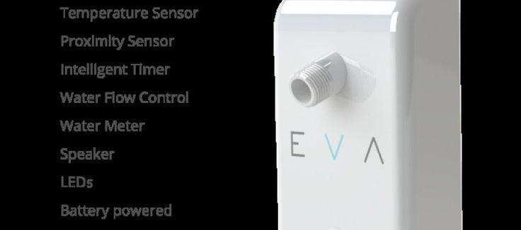 Eva : A Bluetooth-Connected, Smart, Water Saving Shower Head . http://interiordesigner55.com/eva-bluetooth-connected-smart-water-saving-shower-head/ . #homeinterior #watersaving #watersensore