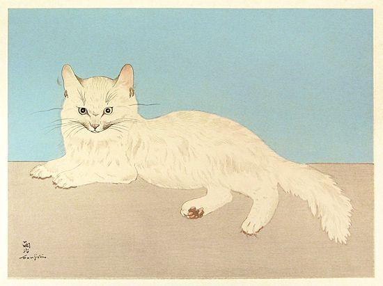 藤田嗣治 白い猫