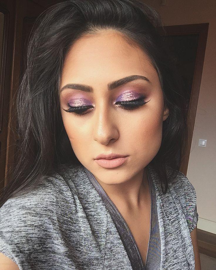 #makeup #purple #glitter #smokeyeyes #ilincaelenamakeupartist