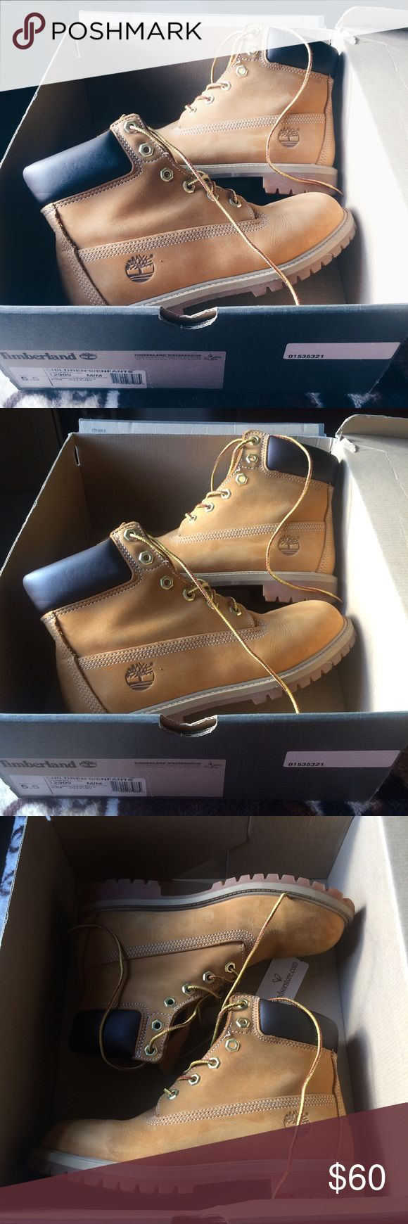Timberland 6in Premium Waterproof Boots (wheat) FITS A WOMAN'S SIZE 7, 7.5, and 8!!! These boots are so cute and stylish! They have very slight and minor creasing in them from regular wear. As you can see, I've barely worn these and figured someone would want to get some use out of these cuties :) bought from the Timberland store and comes with the original box! Accepting offers and let me know if you have any questions! Timberland Shoes Winter & Rain Boots